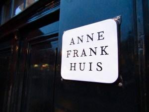 Front door of the Anne Frank Huis in Amsterdam.