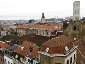 View of Brussels from near Palais de Justice.