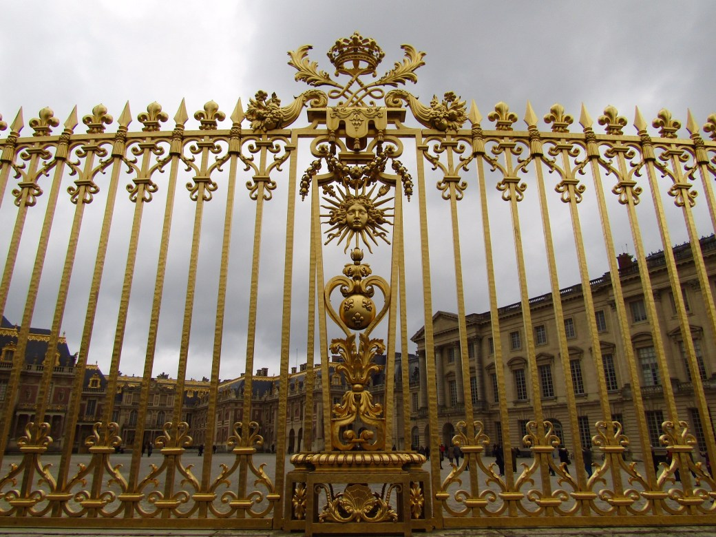 The outer gates at the Palace of Versailles