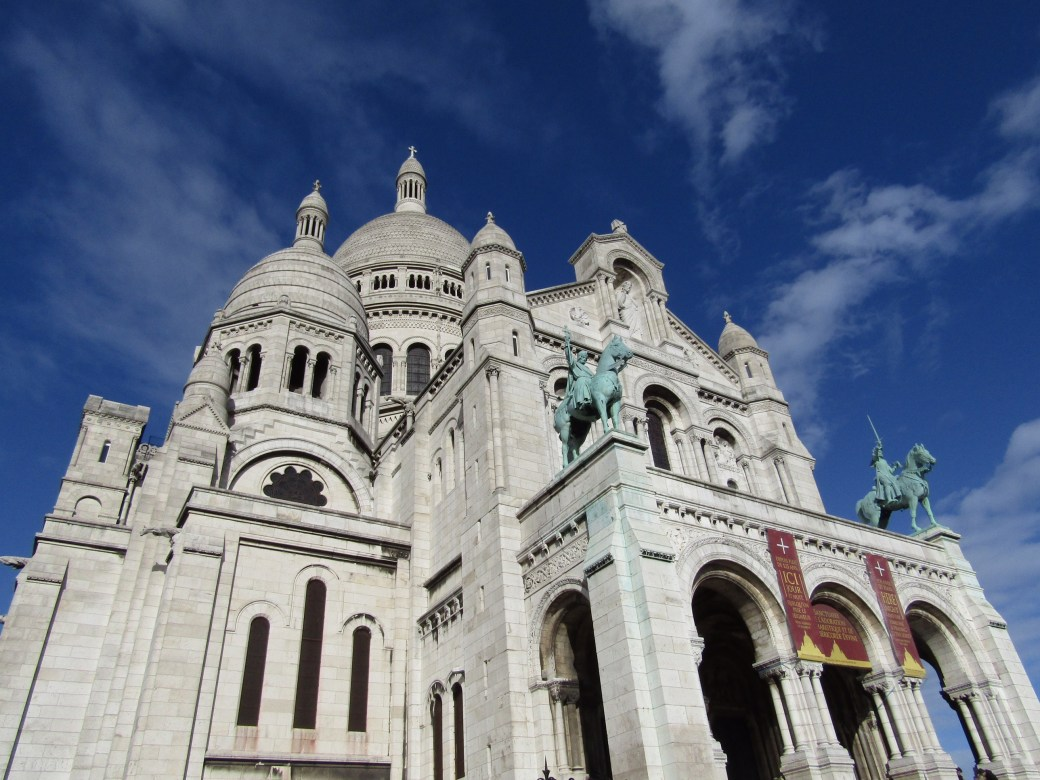 The Basilica of Sacré-Cœur, the highest point in Paris.