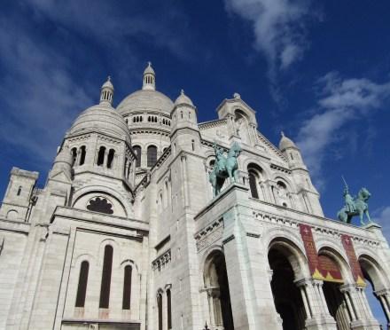The Basilica of Sacré-Cœur, the highest point in Paris.