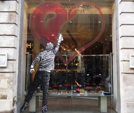 The window of Jean-Paul Hévin's shop in Paris.
