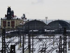 Prague Main Railway Station.