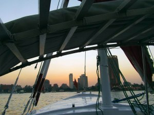 View from the bow (front) of the boat.