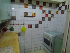 The kitchen in House 2