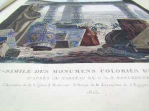 """The """"Fac-simile des monumens colories de L'Egypte"""" is one of the original books in the library. It was an illustrated history of ancient Egypt done by the French. It's how we now know what the temples used to look like."""