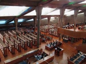 The modern facilities of the Bibliotheca Alexandrina.
