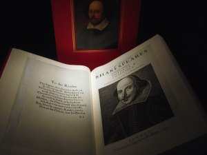 """A copy of Shakespeare's """"The First Folio,"""" published in 1623."""