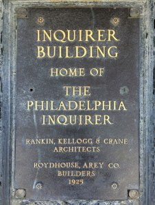 The 18-story Inquirer Building in Philadelphia's Callowhill neighborhood was home to the Philadelphia Inquirer newspaper from 1924-2011. As of May 2016, the site was considered for the new police headquarters.