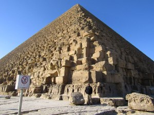 Robert is discouraged from climbing the Great Pyramid.