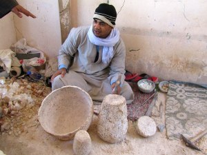 Luxor is one of two places in Egypt where raw alabaster can be found. At a factory near the Valley of the Kings, local craftsmen show the process of turning the stone into translucent works of art.