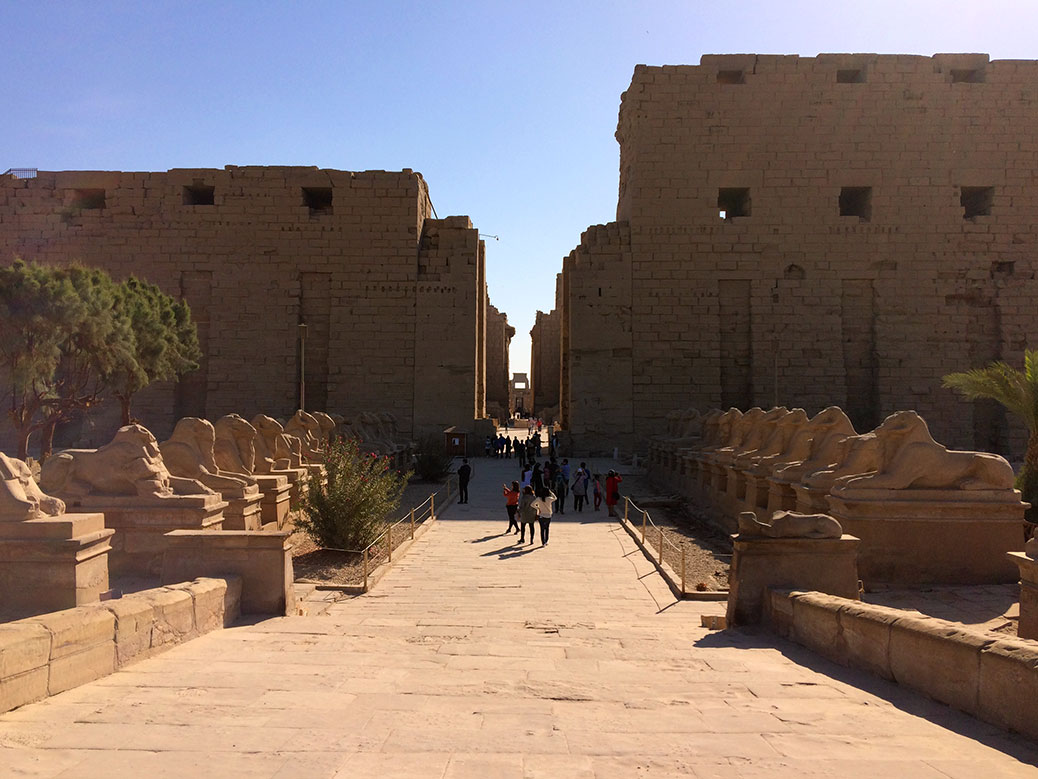 Karnak Temple during the daytime.