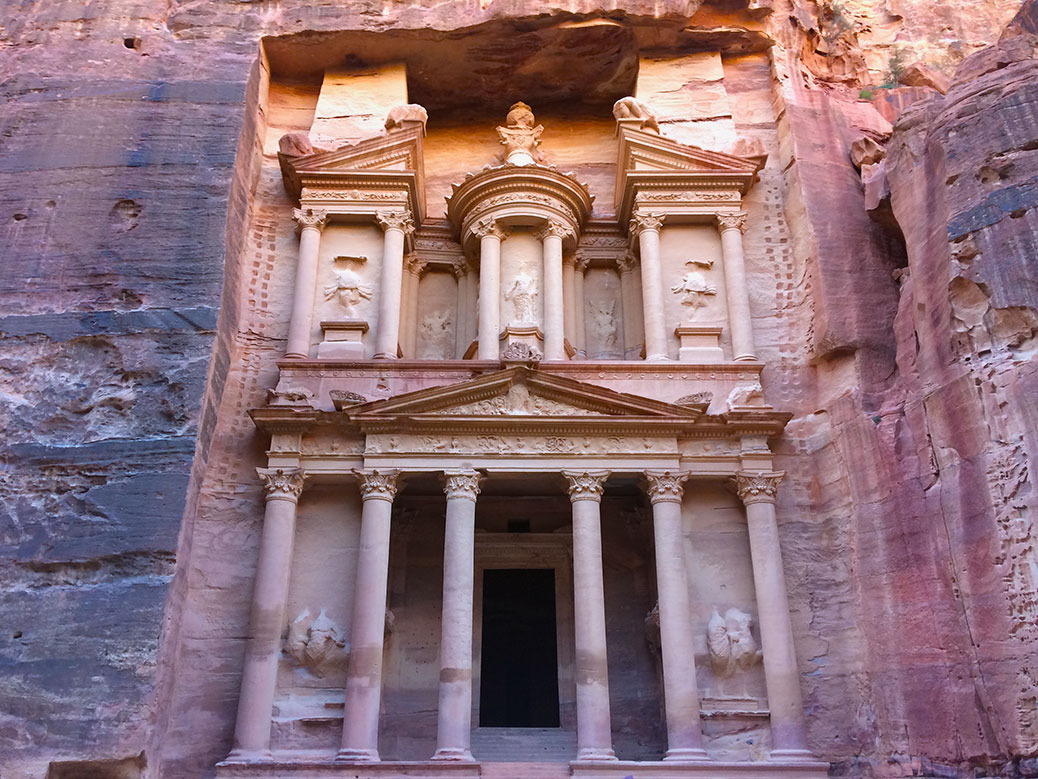 The Treasury is Petra's most iconic building. Thanks to a restoration project in the 1960s, it's also one of the best examples of Petra's prime.