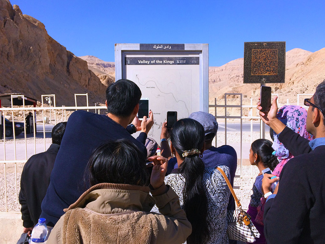 No photos allowed inside the Valley of the Kings, but this map outside the gates was fair game.