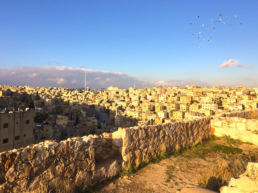 A view of Amman from the Amman Citadel.