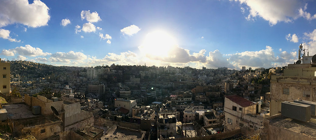 View of Amman from the Amman Citadel.