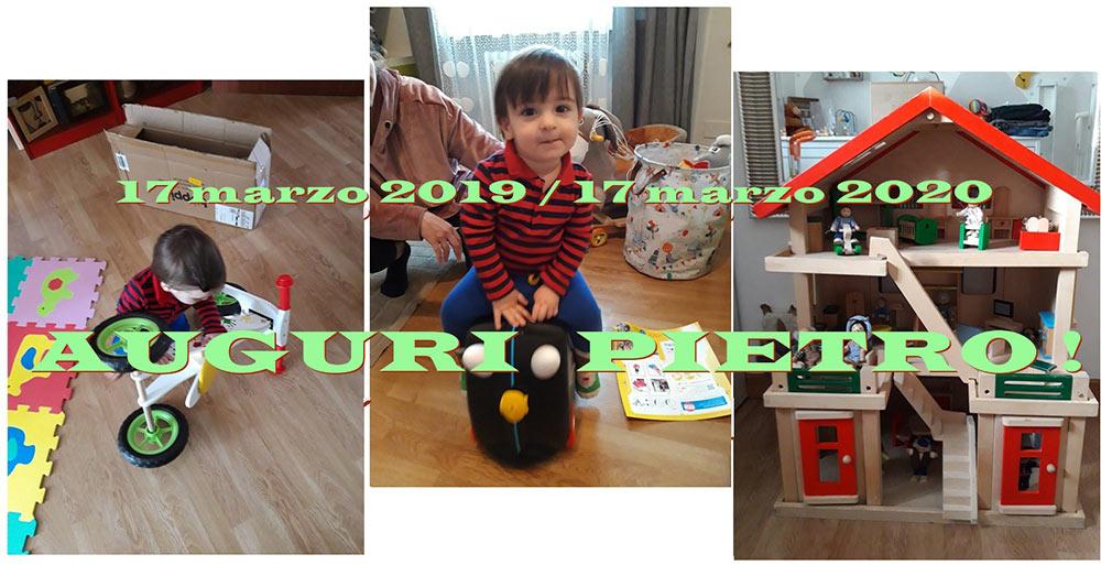 """17 marzo: """"Pietro ha un anno"""""""