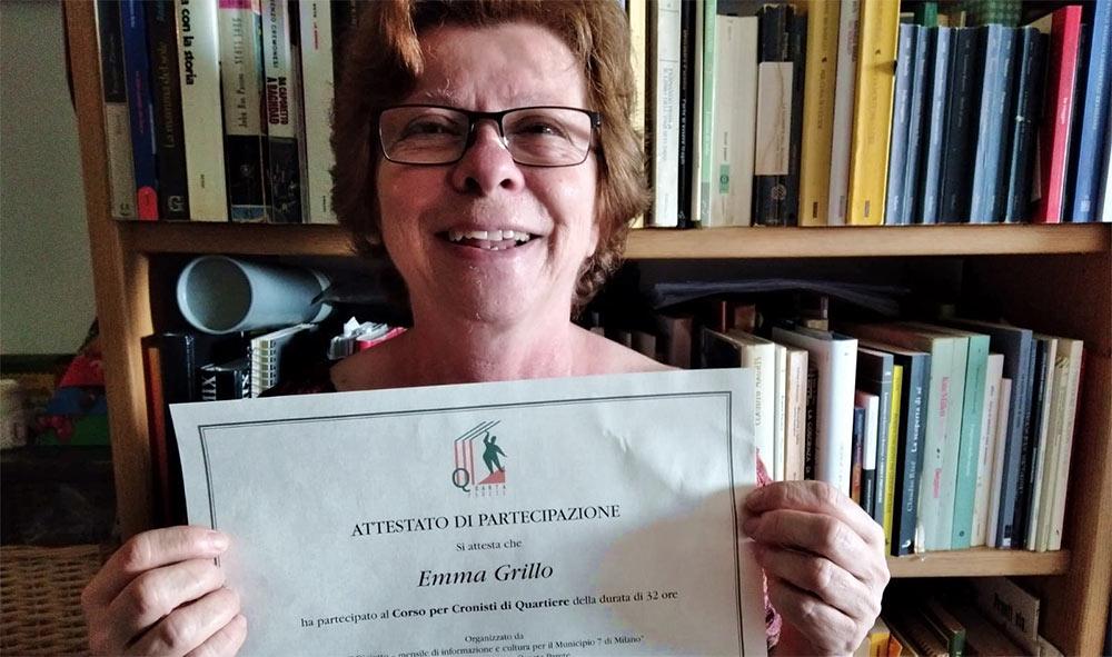 """4 luglio: """"La nostra Emma Giuliana Grillo diventa Cronista di Quartiere"""""""