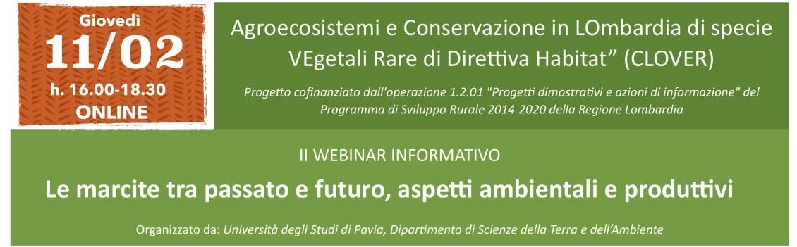"""11 febbraio: """"Le marcite tra passato e futuro, aspetti ambientali e produttivi (il Webinar Informativo)"""
