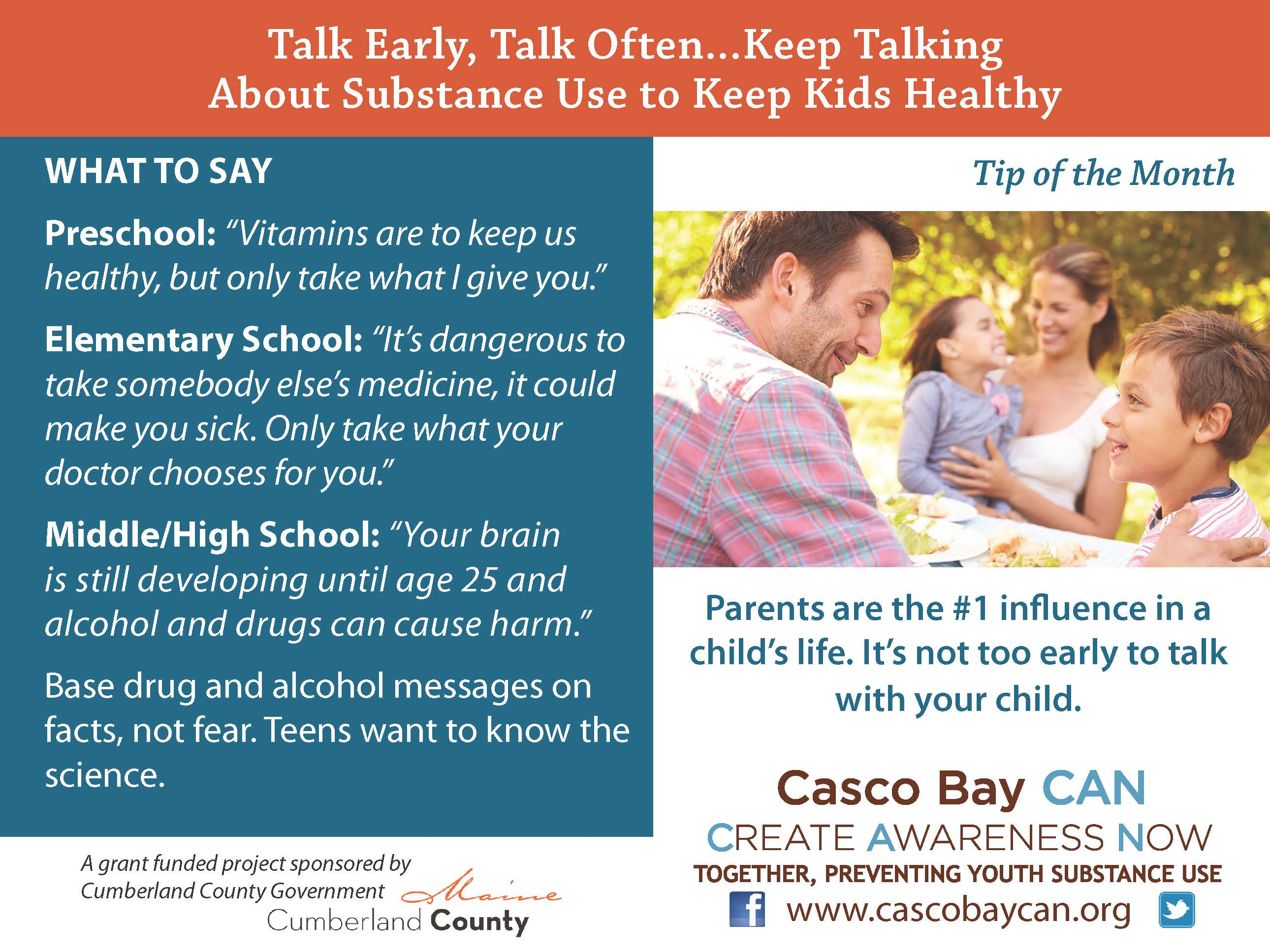 Start Conversations Early About Drugs >> Talk Early Archives Casco Bay Can Casco Bay Can
