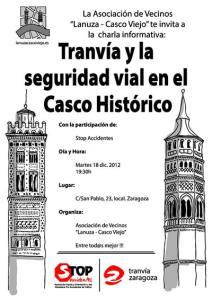 tranvia seguridad vial casco historico zaragoza