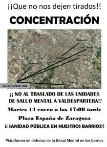 Concentración contra el traslado de las Unidades de Salud Mental