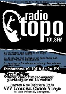 Presentación de Radio Topo.