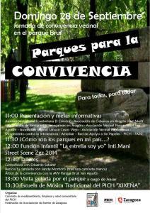 Parques para la convivencia en el Parque Bruil, domingo 28 de septiembre a partir de las 11