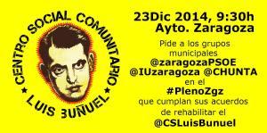 Intervención del CSC Luis Buñuel en el #PlenoZgz del Ayuntamiento