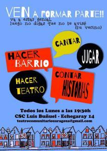 Teatro comunitario en el CSC Luis Buñuel