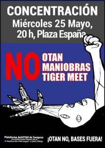No a las maniobras Tiger Meet, no a la OTAN