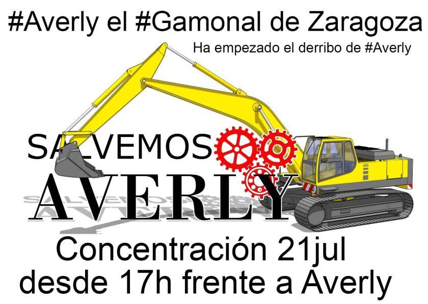#Averly el #Gamonal de Zgz. CONCENTRACIÓN 21jul desde 17h frente a Averly