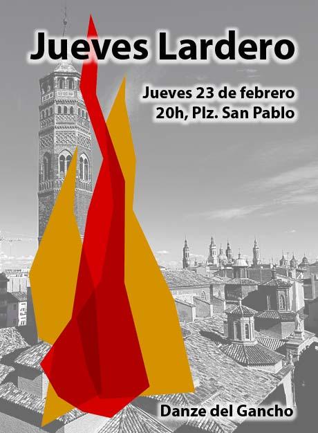 Jueves Lardero 2017, jueves 23 de febrero, 20h, Plz San Pablo. Organiza Danze del Gancho
