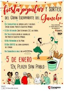 Fiesta popular - Sorteo del Gran Escaparate del Gancho