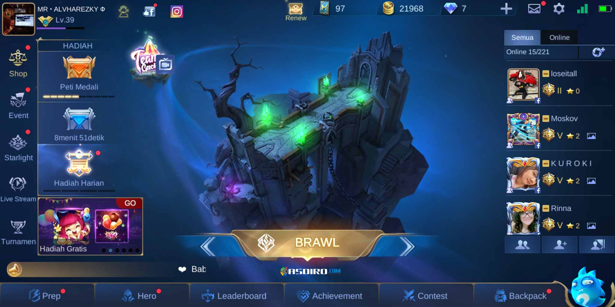Mode Brawl di Mobile Legends Apk