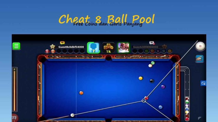 2 Cara Cheat 8 Ball Pool Coins & Garis Panjang Terbaru 2020