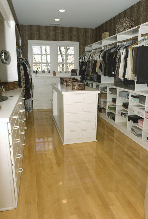 this case indy closet enjoys plenty of natural light a master bedroom window was integrated into the design when the closet was added
