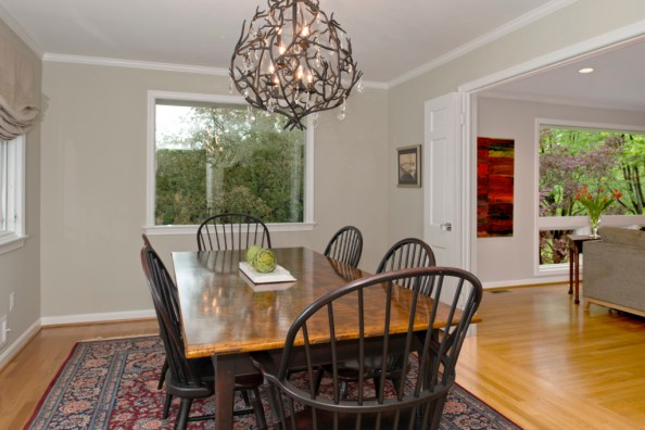 After photo of dining room