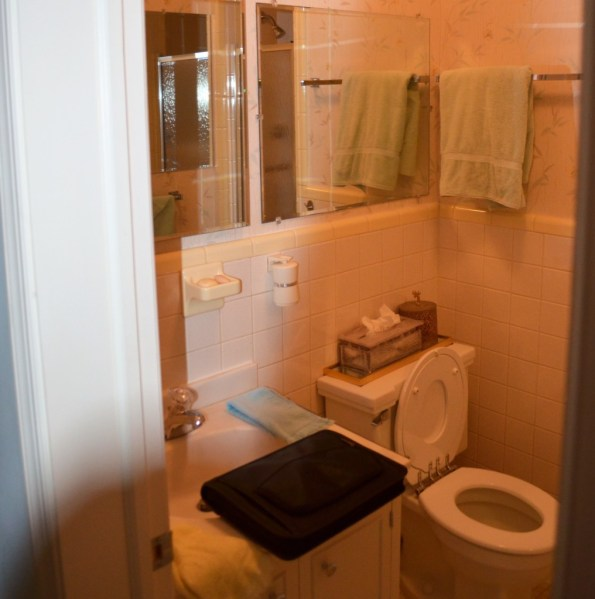 Before photo of bathroom