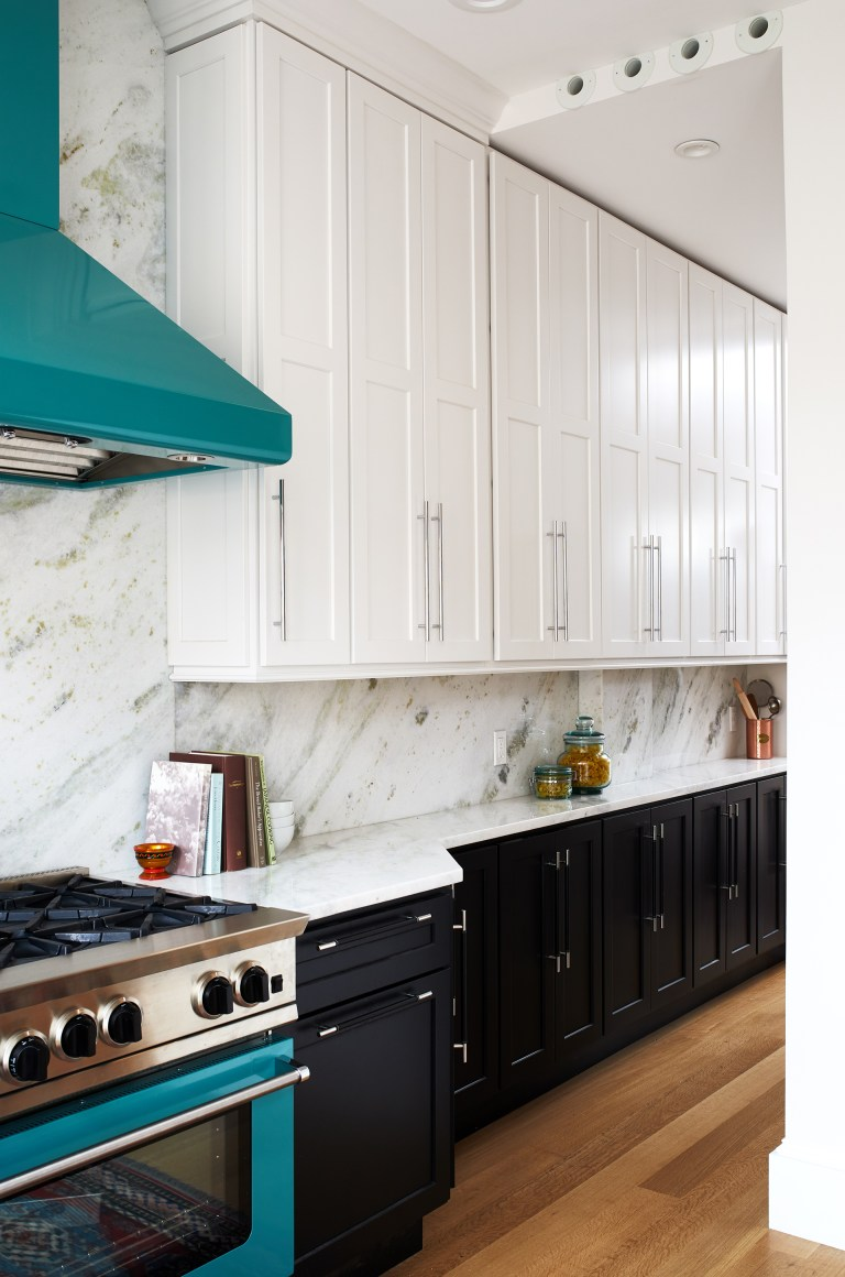 dc remodeling transitional kitchen with white and black cabinets