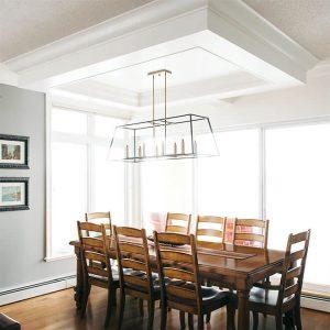 condo remodel coffered ceiling design