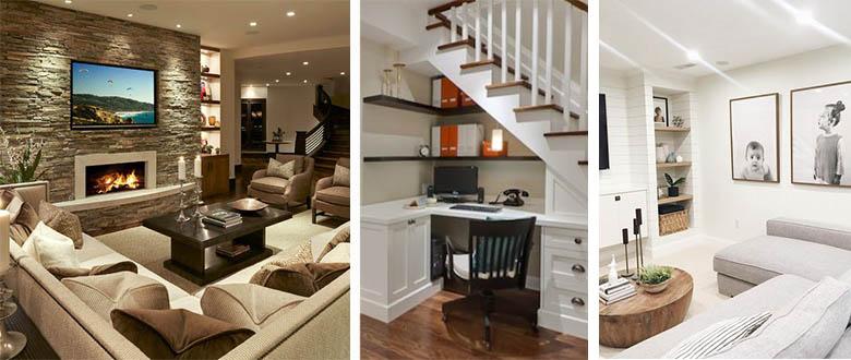 light and dark basement options