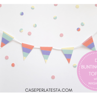 DIY mini cake topper con il washi tape