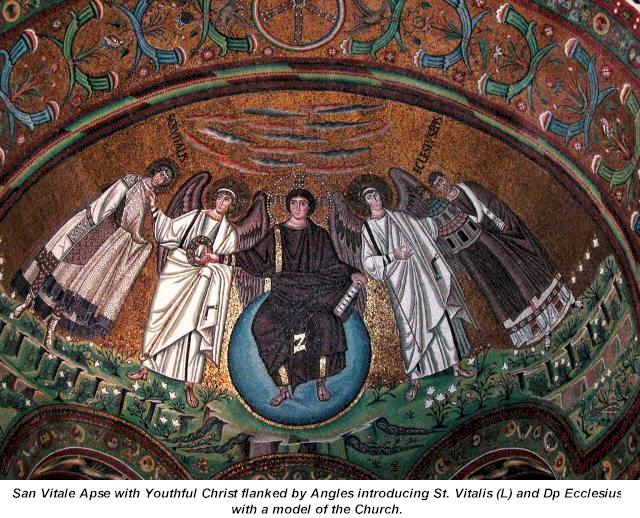 Chrystus Pantokrator, San Vitale