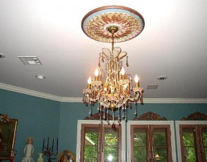 Chandelier Hung In Ceiling