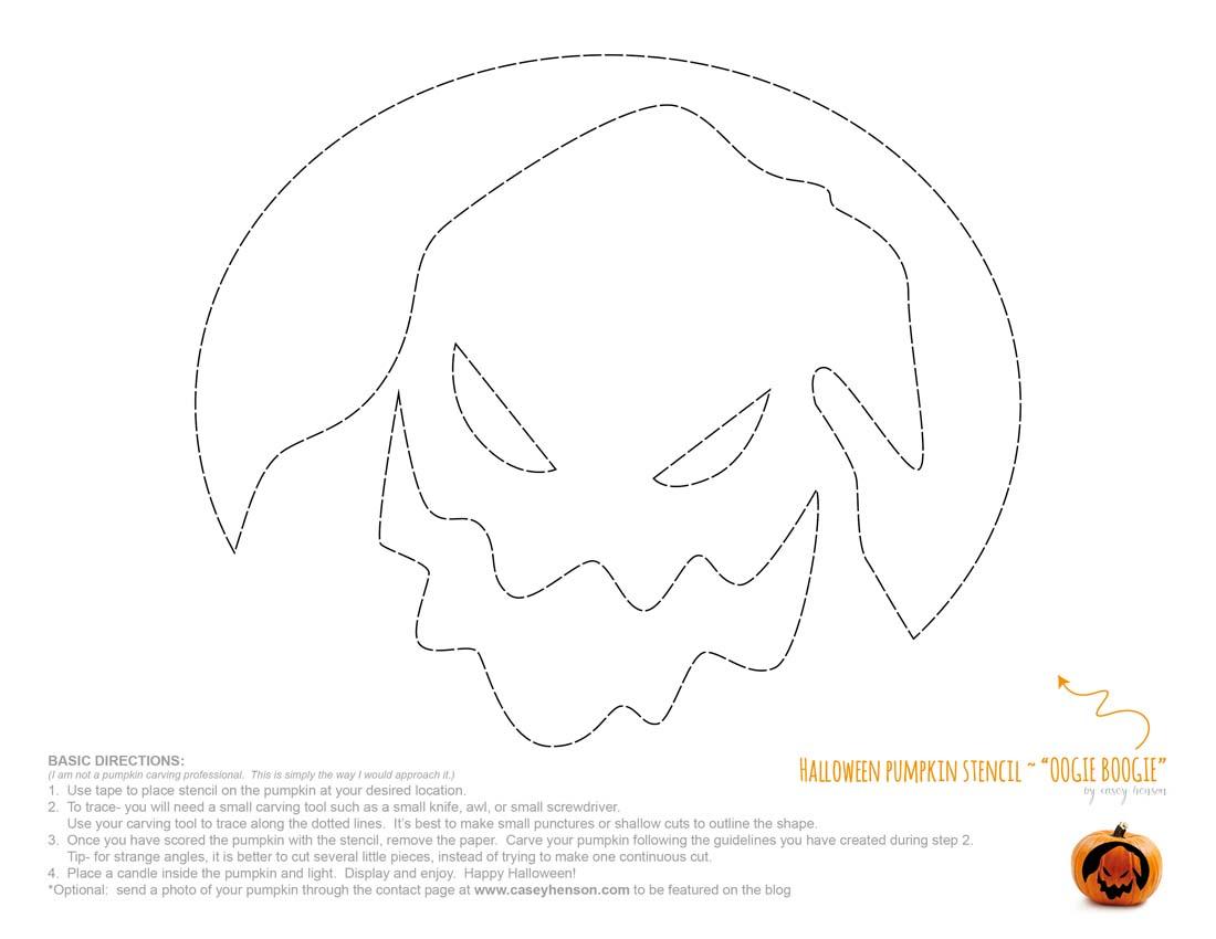 Template Boogie Oogie Man Pumpkin