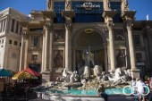 The fountain in front of The Forum Shops at Caesar's Palace.
