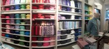 The numerous colours of dress shirts available at Express at Town Square Las Vegas.