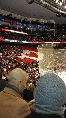 2015 IIHF World Junior Championship — Canada vs Denmark Quarterfinal — Moving Flag