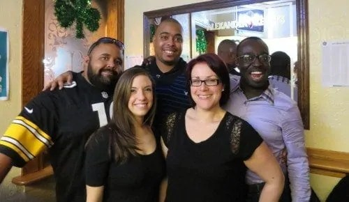 Monthly Wrap-Up — March — The Trolls at Pauper's Pub for Marcel Dee's Birthday (Justin Baisden, Marcel Dee, Casey Palmer, Valeria Rivera, Marie Cannon)